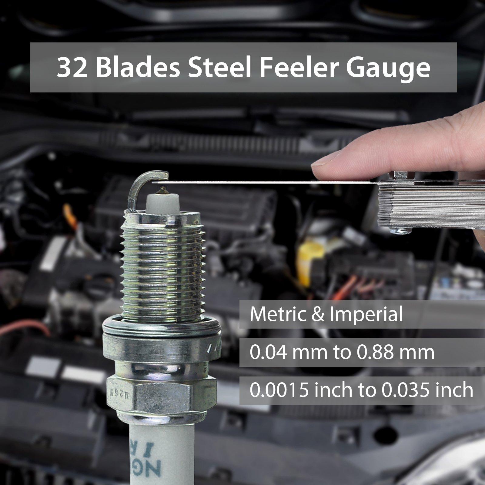 Digital Vernier Caliper + Feeler Gauge Neoteck 150mm/6Inch Stainless Steel Electronic Caliper Fractions/Inch/Metric Conversion Measuring Tool for Length Width Depth Inner Diameter Outer Diameter by Neoteck (Image #3)