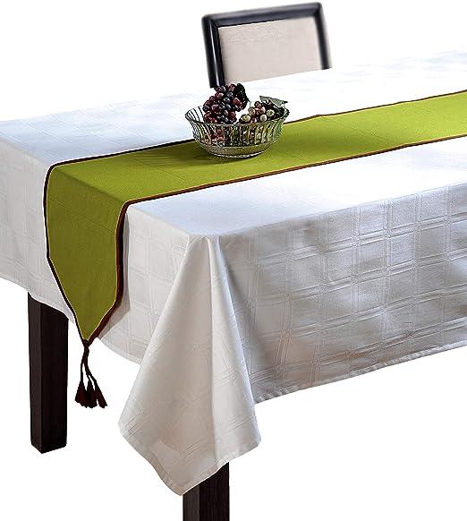 Verde camino de mesa – tela de algodón, diseño de pato – 13 ...