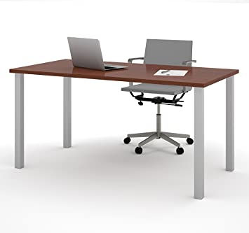 30 x 60 Bordeaux BESTAR Table with Square Metal Legs