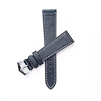6abcab621f71 Milano Straps Watch Band - Made of Italian Saffiano Leather - Stainless  Steel Polished Buckle - Replacement Strap for All Types of Watch - Perfect  for Men & ...