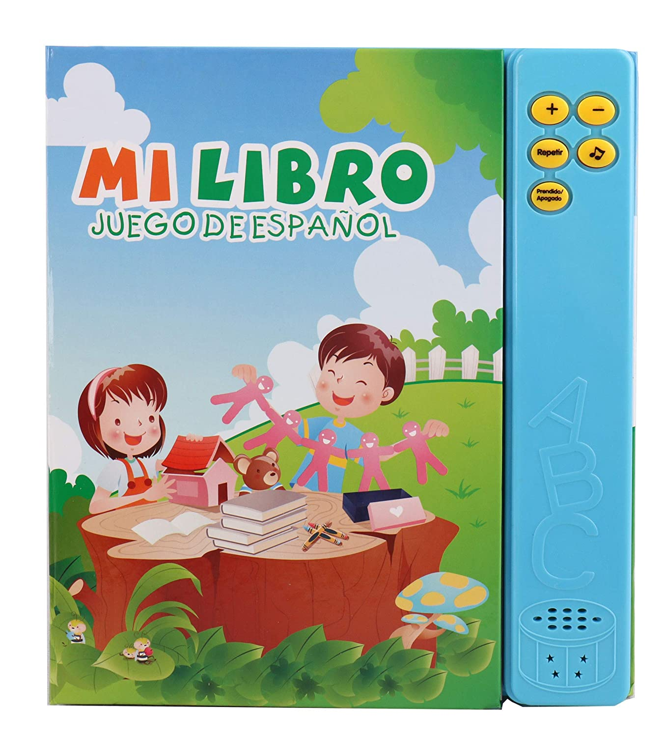 Pasaca Toys Kids Learning Book Libro de Juguetes en Españal with 6 Learning Game Learning ABC Spelling Españal Juguetos Blue