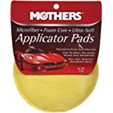 Mothers 156501 Yellow Microfiber Ultra Soft Applicator and Cleaning Pads (Two 5 Inch Pads)