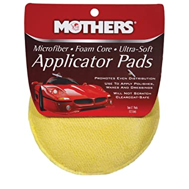 Mothers 156501 Yellow Microfiber Ultra-Soft Applicator Pad (Two 5  Pads)