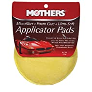 "Mothers 156501 Yellow Microfiber Ultra-Soft Applicator Pad (Two 5"" Pads)"