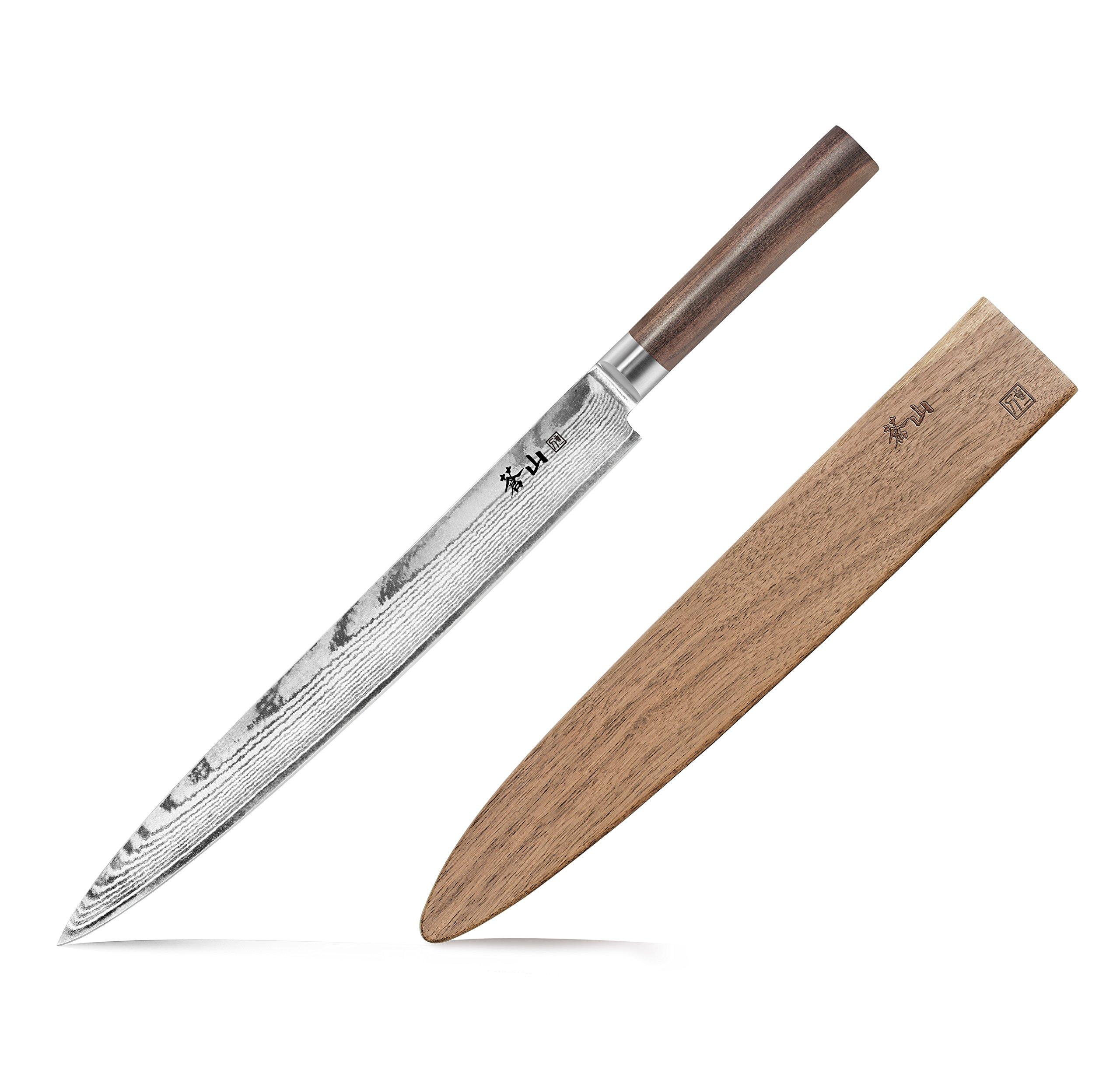 Cangshan J Series 62793 Japan VG-10 Forged Sashimi Chef Knife With Walnut Sheath, 12-Inch