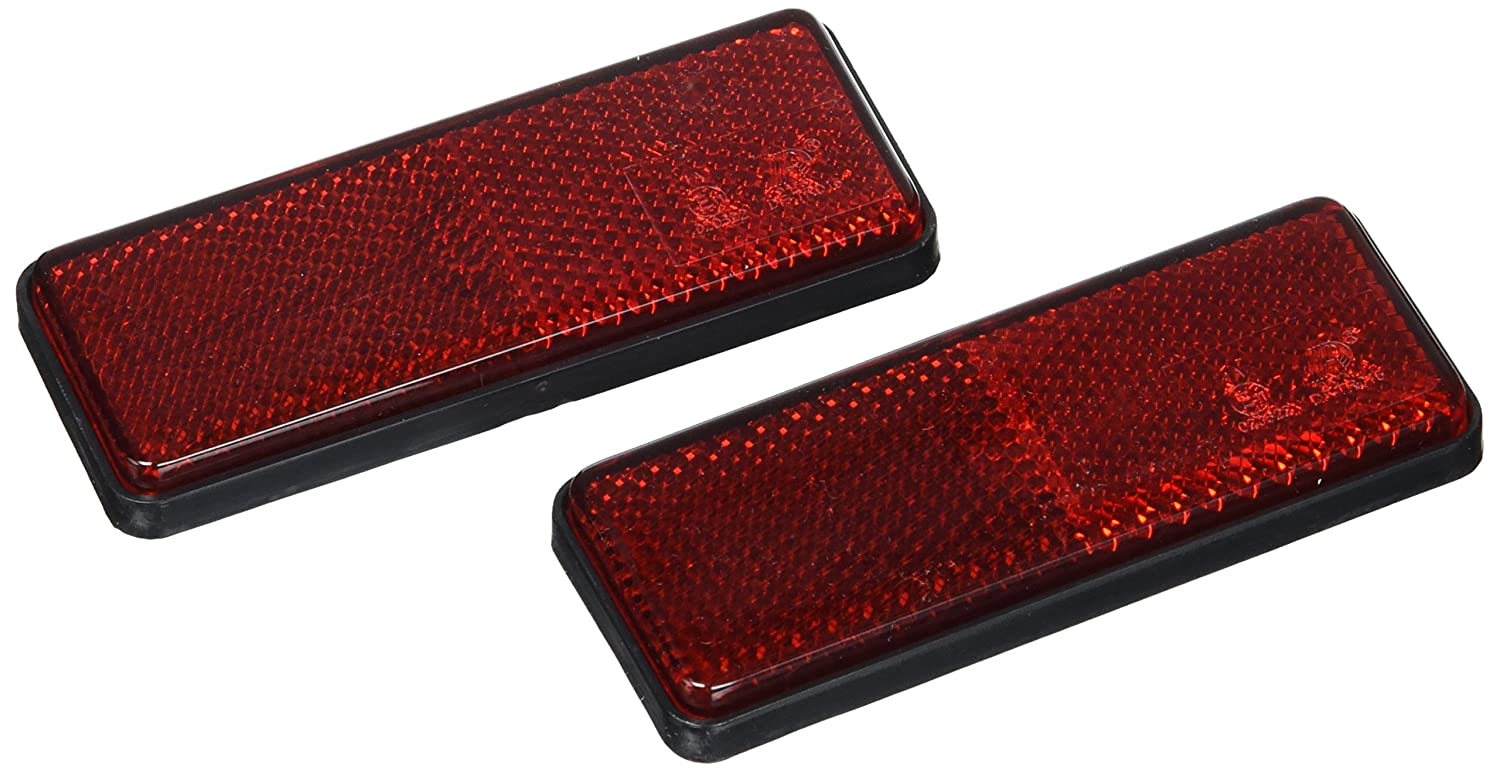 Lampa Pair of rectangular reflectors, approved, red Ref 20540 - Set of 2