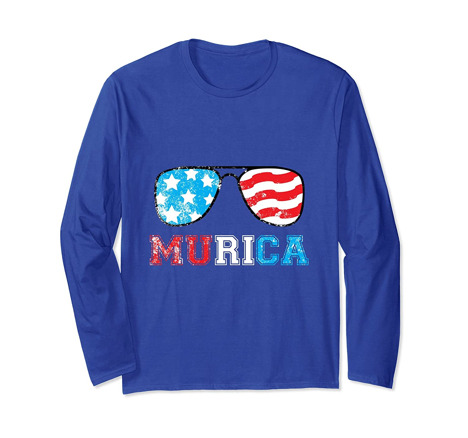 4th of July Independence Day Murica Distressed Funny T-Shirt-AZP
