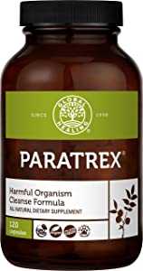Global Healing Paratrex - Gut Health Cleansing & Advanced Intestinal Detox Support - Natural, Vegan Herbal Supplement Cleanse with Organic Wormwood & Neem and Black Walnut for Adults - 120 Capsules