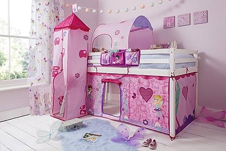 Tende Per Letti A Castello.Letto A Castello Per Bambini Con Tenda Torre E Tunnel Tidy In