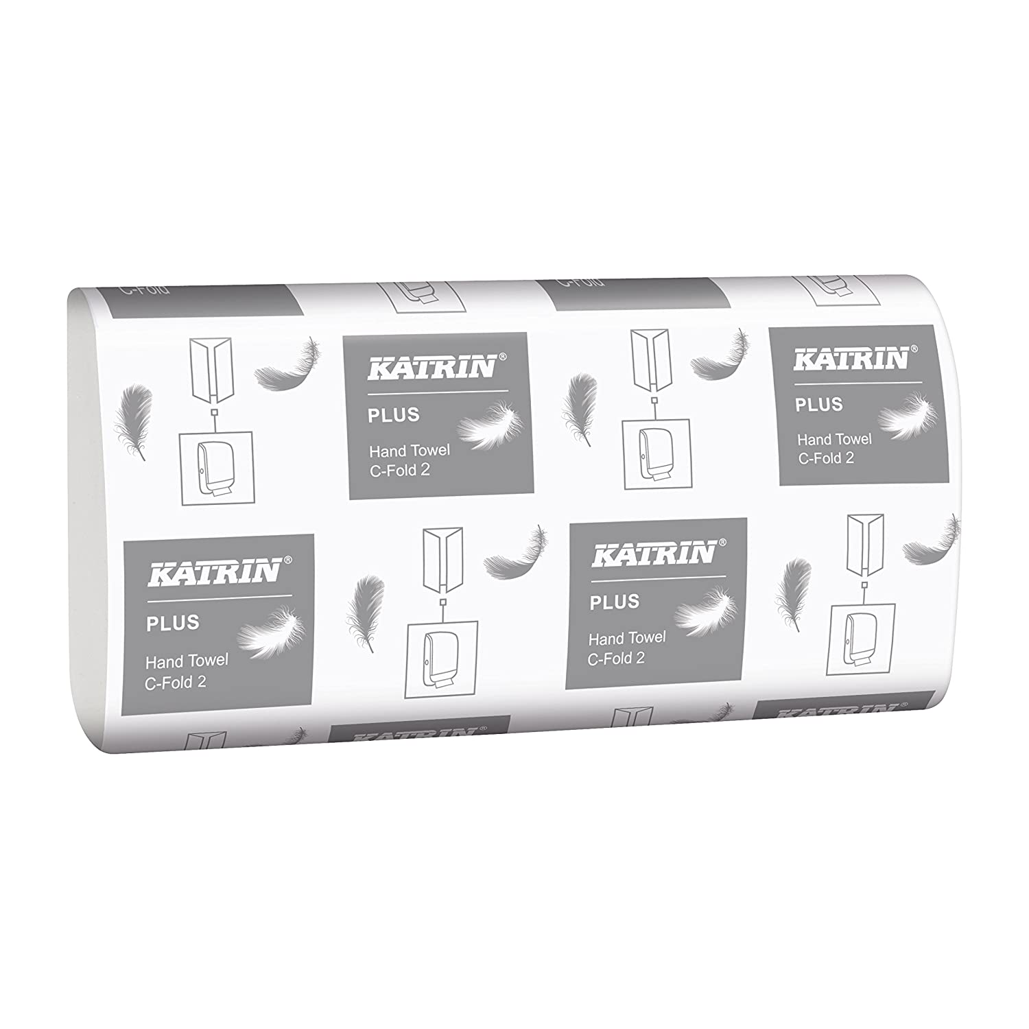 2-Ply Pack of 2400 white Katrin 344388 Plus quality C Fold hand towels