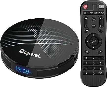 Promoción】 Última versión-Bqeel Android 9.0 TV Box 【4G+128G】 con el Chip RK3328 Quad-Core 64bit Cortex-A53 Android TV Box, Wi-Fi-Dual 2.4GHz/5GHz, Bluetooth 4.0 , 4K*2K UHD Smart TV Box: Amazon.es: Electrónica