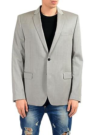 50d3cfde7 Amazon.com: Versace Collection Men's 100% Wool Gray Blazer Sport ...