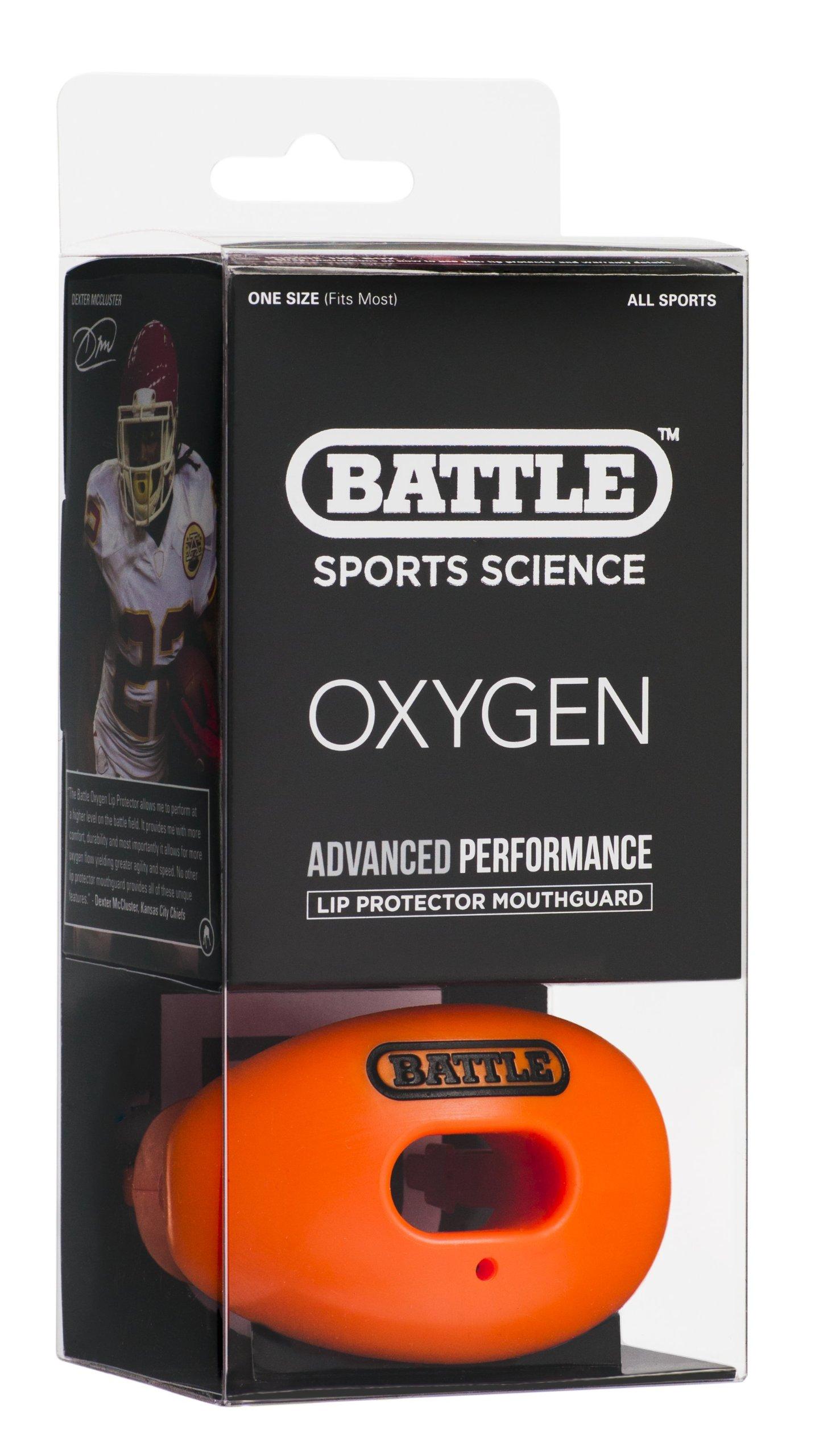 Battle Oxygen Lip Protector Mouthguard, Orange by Battle
