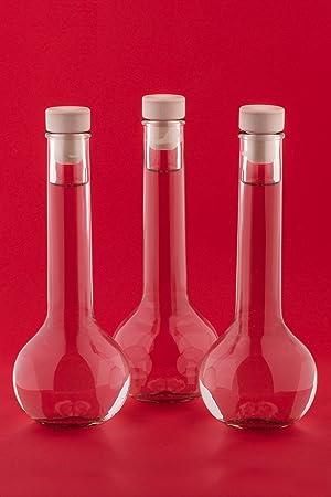 slkfactory Tul-HGK - Juego de 10 Botellas de Cristal vacías (200 ml, para Rellenar, 0,2 L, para licores, licores, licores, vinagre, Aceite)