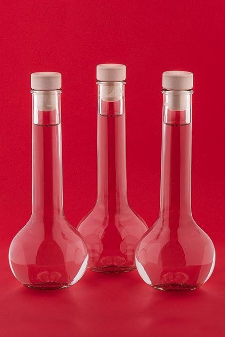 6 x bouteilles en verre de jus de 500 ml avec manche en bois li/ège TUL-HGK vinaigre dalcool litre 0.5 l de slkfactory dhuile