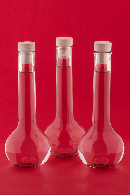 10 x 200 ml Glass Bottle Small Bottle TUL-HGK with Corks for Liqueurs Schnapps Vinegars Oils by slkfactory SLK GmbH