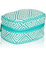Thirty One Cute Case in Turquoise Graphic Weave - No Monogram - 8140