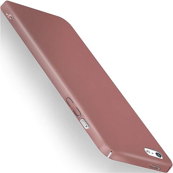 moex Apple iPhone 5S   Hülle Rose-Gold Alpha Back-Cover TPU Schutzhülle Dünn Handyhülle für iPhone 5/5S/SE Case Ultra-Slim Th