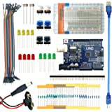 LANDZO UNO R3 Starter Kit with Arduino Uno R3 Breadboard Jumper Wires USB and Leds for Compatible for Arduino