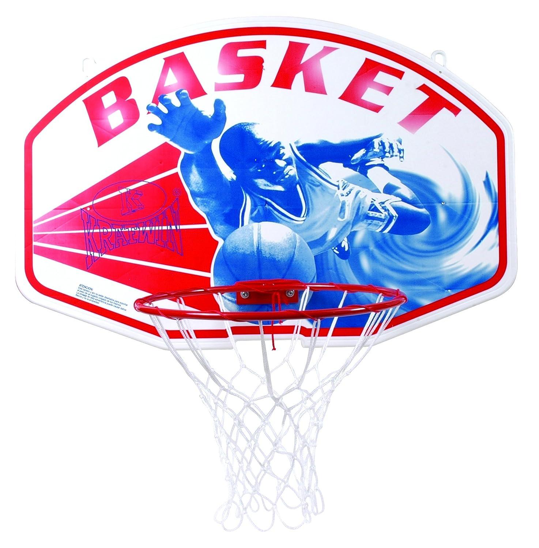 Krafwin Ring and Net–Red de Baloncesto Unisex, Color Blanco 5NALJ|#Krafwin 0015858