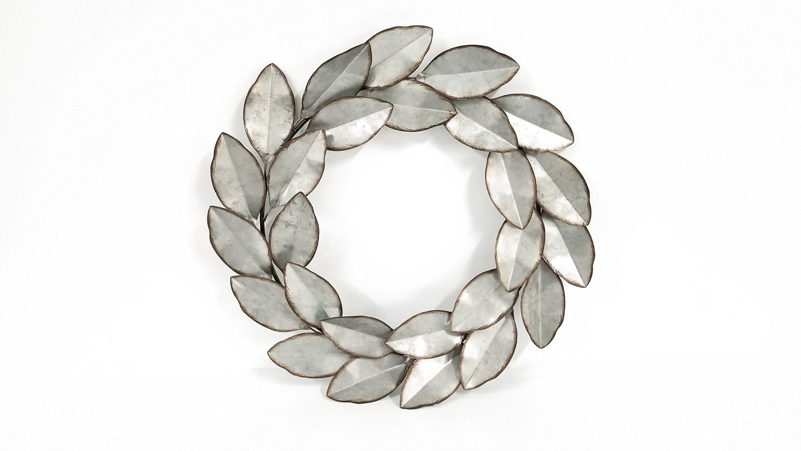 Everydecor-Leaf-Wreath-Metal-Wall-Decor