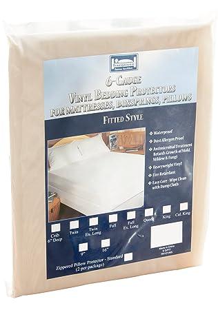 La alergia Store Vinilo colchón para Cama de Matrimonio, Vinilo, Translucent, Cama Individual: Amazon.es: Hogar