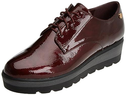 047331, Zapatos de Cordones Oxford para Mujer, Negro (Black), 41 EU Xti