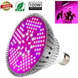 SINJIAlight 100W LED Plant Grow Light Newest Full Spectrum Led Grow Light Bulb 150 PCS SMD Plant Growth Lamp High Efficiency Lighting for Growing Vegetables, Flower and Hydroponic Aquatic Plants
