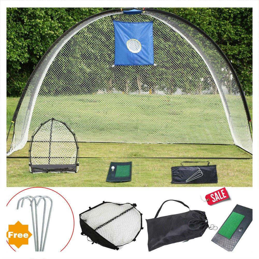 3 in 1ゴルフ練習セットアウトドアトレーニングマットDriving Net Chipping Net andバッグ – Skroutz   B0775J74VD