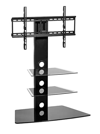Black Universal Tall Floor TV Stand With Swivel Mount Bracket Suitable For 32 To 55 Inch LCD LED Flat Screen TV s Max VESA 600 x 400