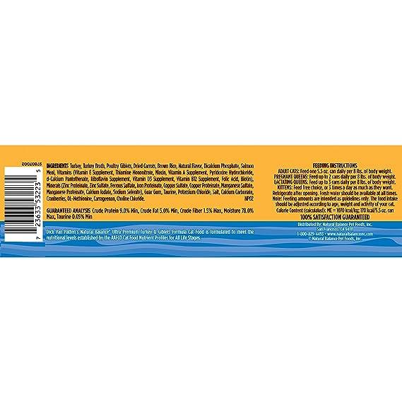 amazon com natural balance turkey giblets formula wet cat food 5 5 ounce can pack of 24 pet supplies