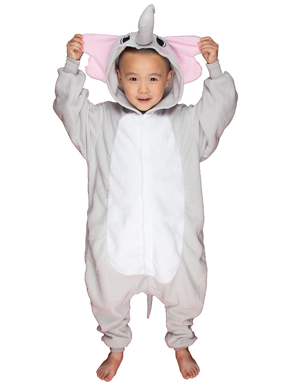 783b7eb79fb4 Amazon.com  BELIFECOS Childrens Elephant Costumes Animal Onesies Kids  Homewear Pajamas  Clothing