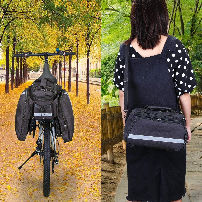 Wildken Gep/äcktr/ägertasche wasserdichte Fahrradtasche Hinterradtasche Gep/äcktr/äger Tasche mit Regenh/ülle