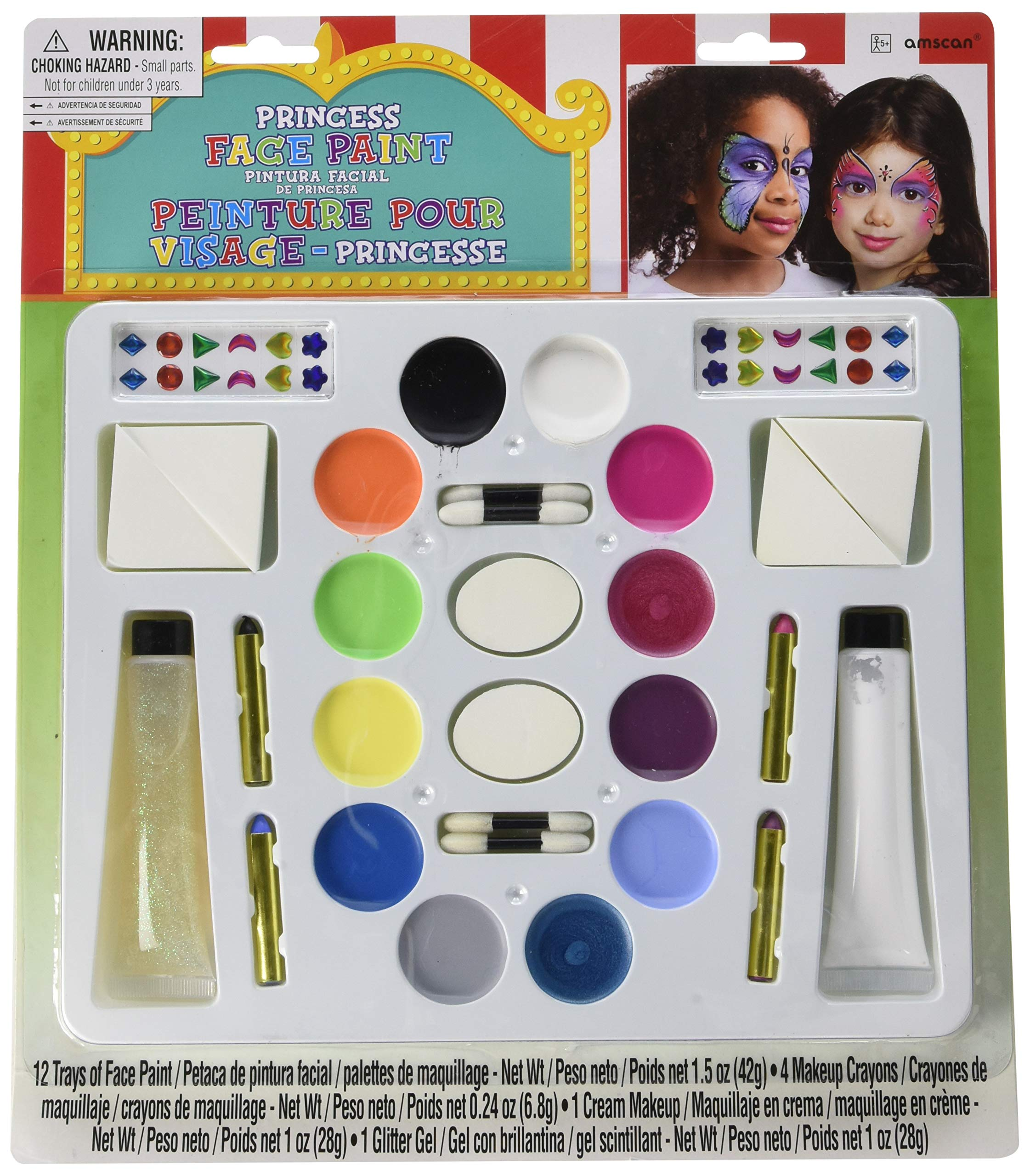 Princess Face and Body Paint Kit Deluxe | Game Collection | Party Accessory by amscan