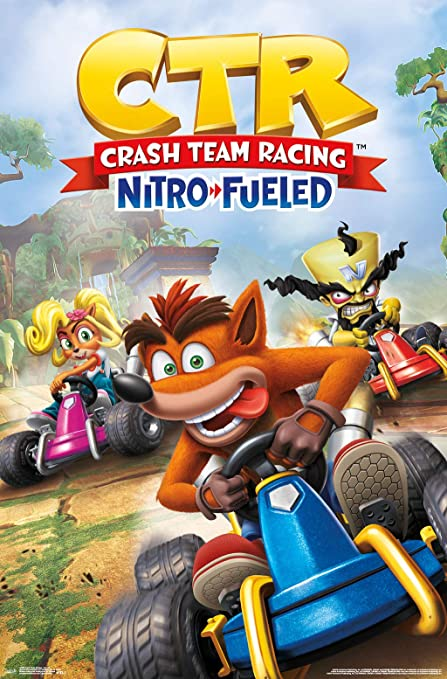 Crash Team Racing Nitro Fueled Official Poster New