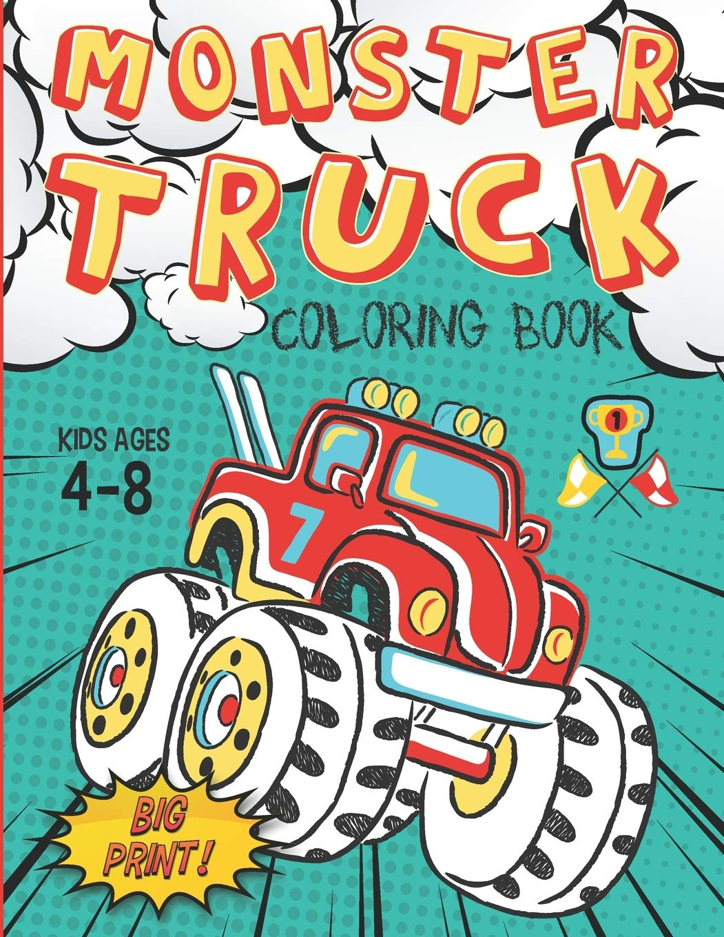 Monster Truck Coloring Book Kids Ages 4 8 Big Print 60 Unique Drawing Of Monster Truck Cars Trucks Muscle Cars Suvs Supercars And More Popular Cars Coloring For Boys Truck King 9781660086528 Amazon Com Books