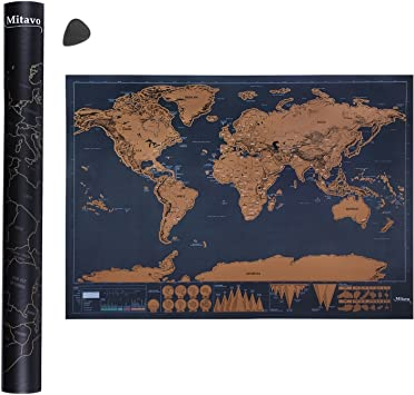 Mitavo Premium mapa para rascar ¡con rascador!, rascar mapamundi ...