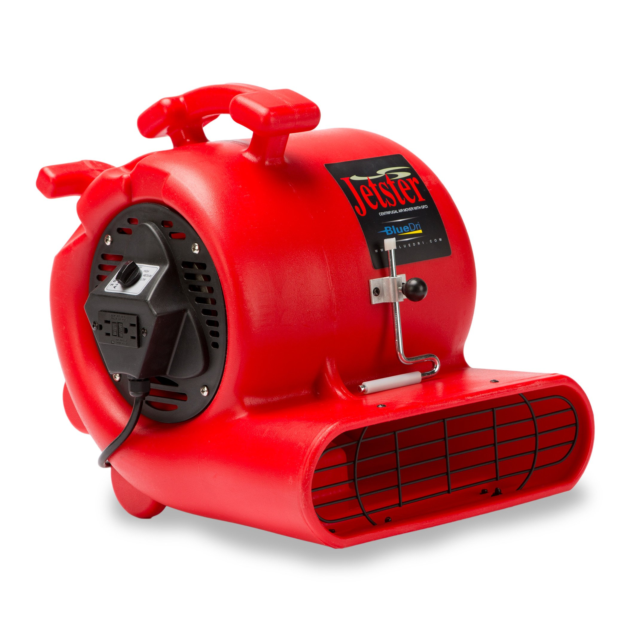 BlueDri Jetster 0.33 HP Air Mover Carpet Dryer with Carpet Clamp RED