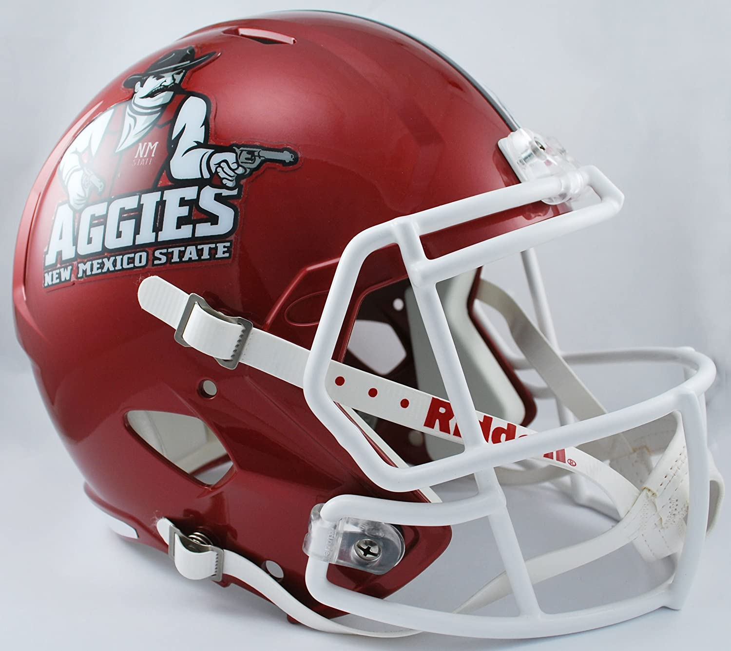 NCAA New Mexico State Aggies Full Size Speed Replica Helmet Red Medium