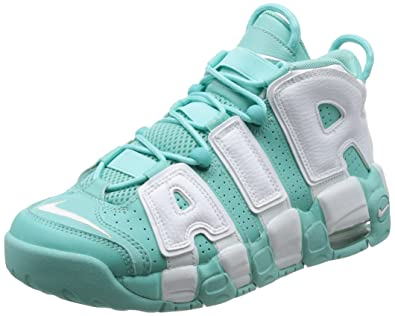 separation shoes 76e8e 31d7b Nike 415082-300 Grade School AIR More Uptempo (GS) Island Green White