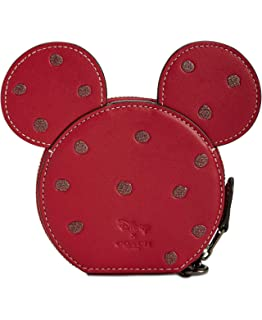 COACH Womens Boxed Minnie Mouse Coin Case