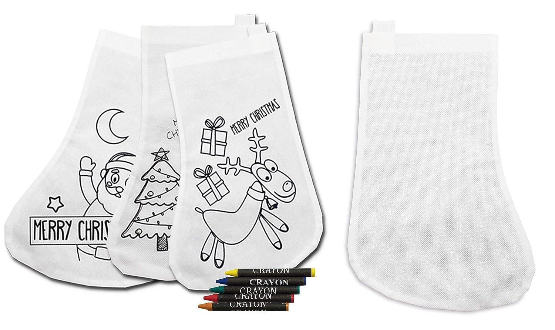 DISOK Lote de 20 Calcetínes Decorativos Navidad para Colorear!: Amazon.es: Juguetes y juegos
