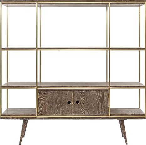 Kare Design Regal Showcase Storm, Bücherregal aus Stahl mit ...