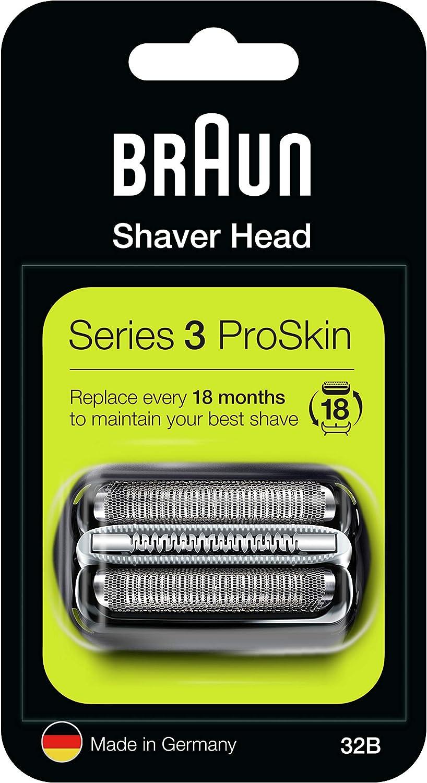 Braun Casette 32 B - Láminas de recambio + portacuchillas para afeitadoras Series 3: 340 - 300)
