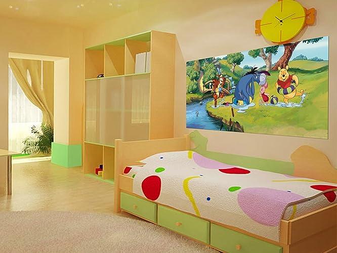 Amazoncom WallandMore Disney Winnie the Pooh Wall Decal Mural For