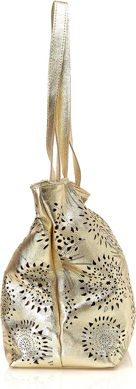Chicca Borse Damen Cbc7713tar Schultertasche, 15x31x41 centimeters Gold (Oro)