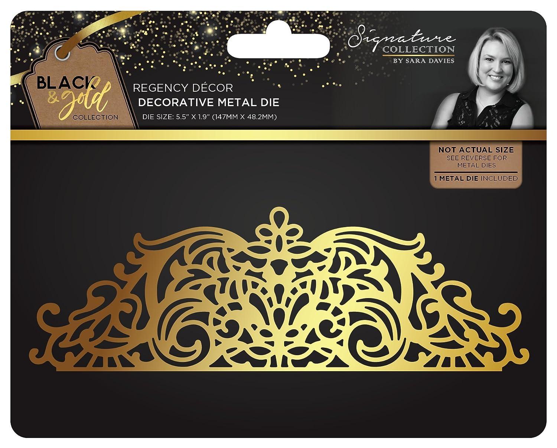 Sara Signature Black & Gold Regency Décor metal die, argento Crafter's Companion S-BG-MD-DEC