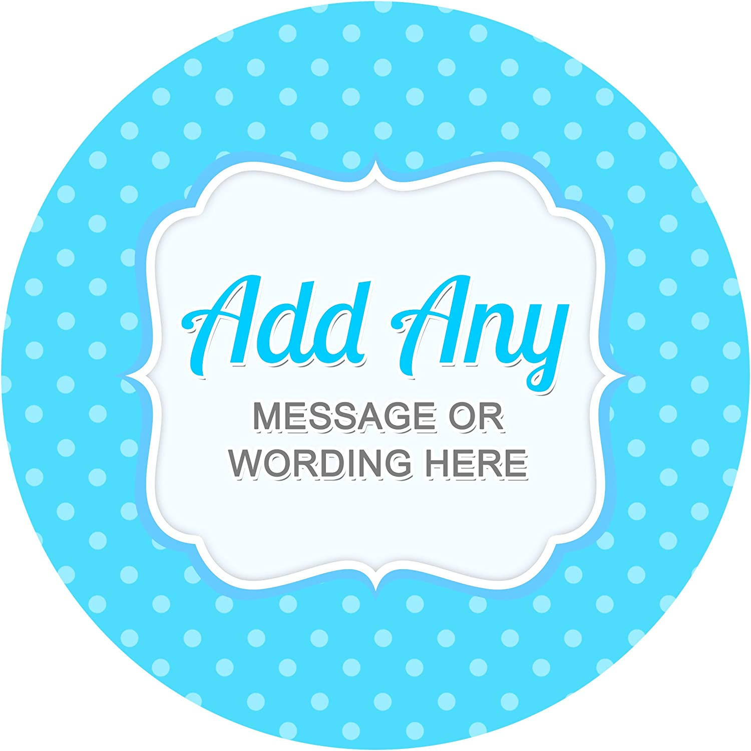 Bottles Presentations Gift Boxes Baby Shower Blue V8 Sticker Labels Personalised Seals Ideal for Party Bags Sweet Cones Favours Crafts Jars