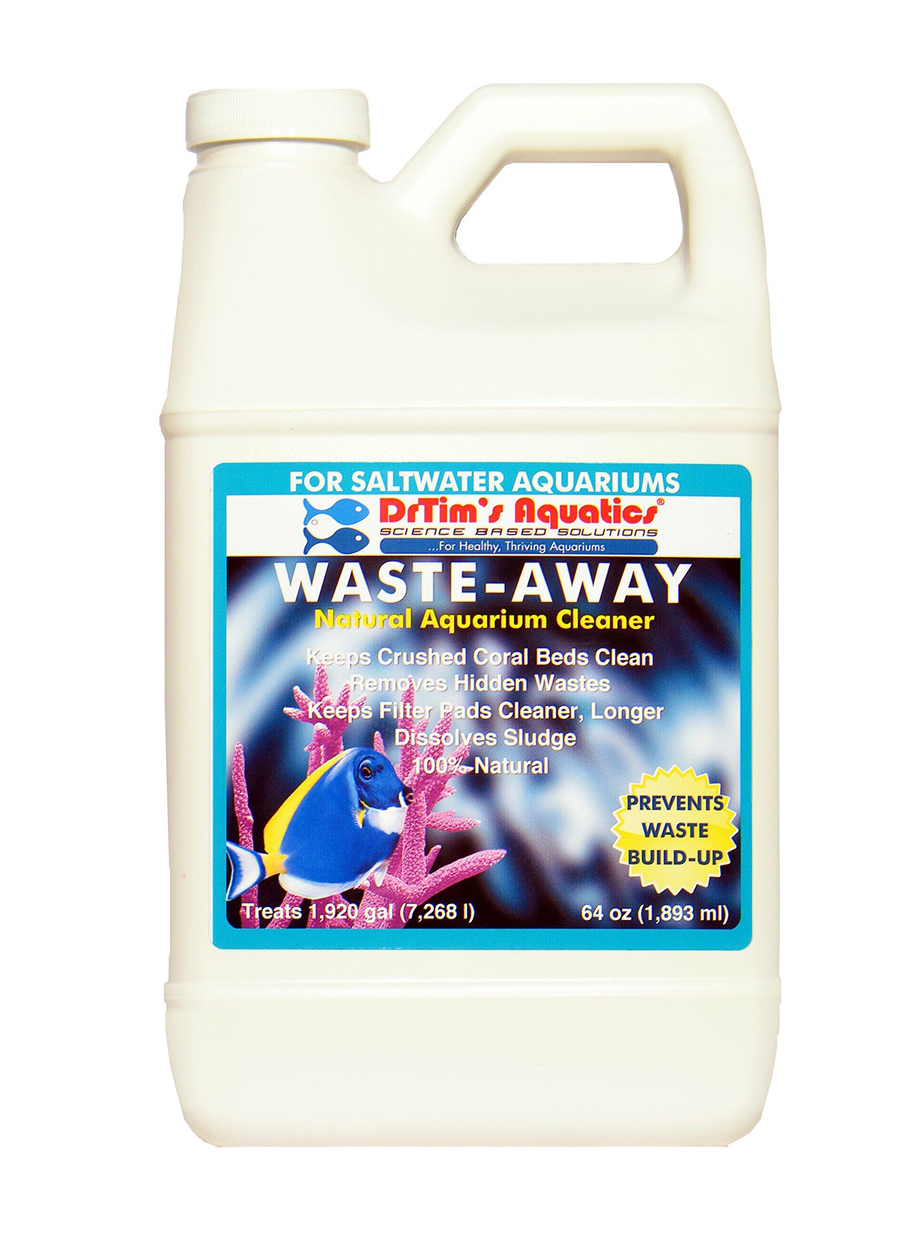 DrTim's Aquatics Waste-Away Natural Aquarium Cleaner, Saltwater 64 oz