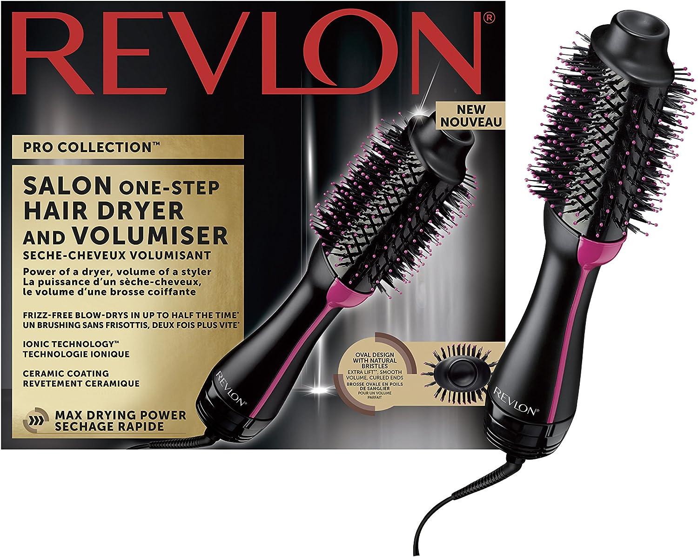Cepillo Revlon Pro Collection 2 en 1 para secar y dar volumen, RVDR5222